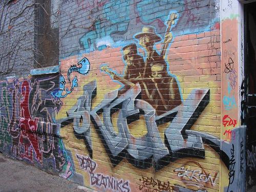 Imagina las emociones negativas como graffitti