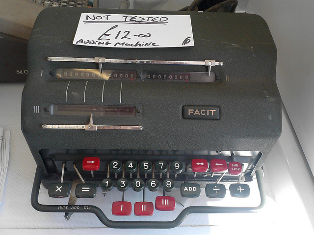 Facit adding machine by Sarah Joy