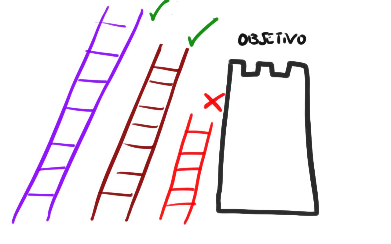 La escalera que sube a la torre