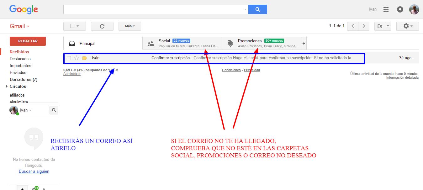 Recibidos entusiasmadocom gmail.com Gmail