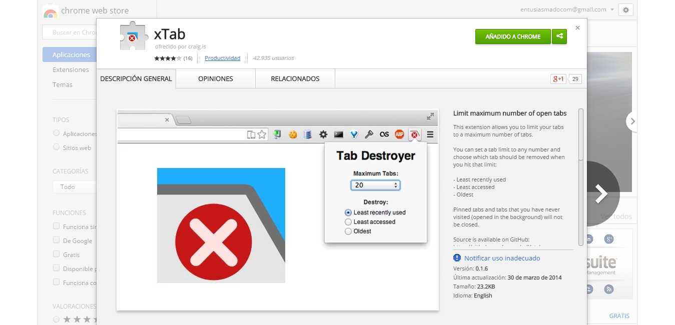 xTab   Chrome Web Store