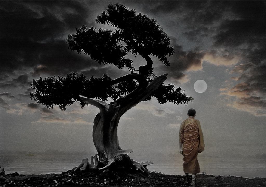 Este monje te aseguro que no se va a estresar.