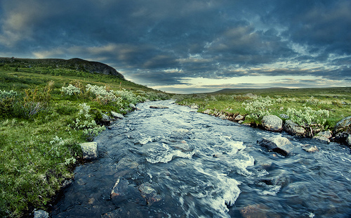 Los rápidos del río